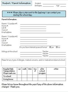 Back to School Parent CommunicationThis also includes a one page Parent Contact form to be placed in your Communication Notebook for easy access when you need to reach a parent.  Two Communication Log forms can also be placed in your Communication Notebook to record parent contacts.  This product includes: Parent Homework message (2 per page) Parent Contact Information form Communication Log for all students Communication Log for individual students