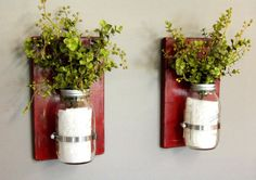 32 oz Mason Jars, Set of 2 Sconces, Wooden Wall Sconces, Wooden Wall Decor, Rustic Charm, Distressed Wood, Mason Jar Decor