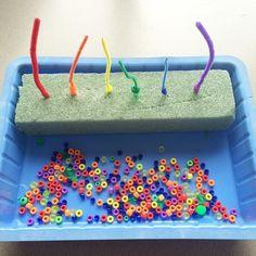 rainbow bead threading