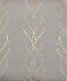 Aurora York Wallcoverings Wallpaper Wallpaper York Wallcoverings Gold Grays Whites Contemporary Wallpaper Designer Wallpaper Metallic Wallpaper Textured Wallpaper, Non Woven, Easy to clean , Easy to wash, Easy to strip