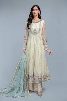 Latest Maria B Pret Stitched Summer Dresses Designs Collection consists of casual day wear & evening wear ready to wear suits in lawn, chiffon, Latest Pakistani Dresses, Pakistani Designer Suits, Pakistani Fashion Casual, Pakistani Dress Design, Pakistani Outfits, Indian Dresses, Western Dresses, Pakistani Couture, Pakistani Bridal Wear