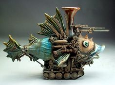 Grafton Pottery *I'd like to see this....Love this guy's imagination. More: http://graftonpottery.blogspot.com/ (TAG: ARTIST; CERAMICS)