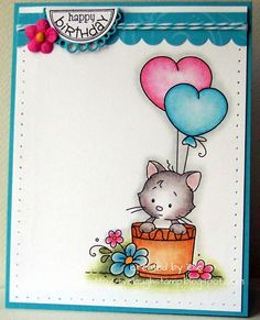 Wee Stamps - Amy's Kitty