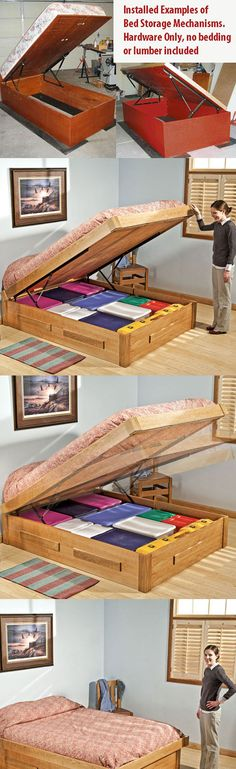 storage ideas Under Bed Storage Hardware 110 LBS Buying Baby Clothes At A Discount Article Small Office Storage, Dorm Storage, Small Bathroom Storage, Kids Storage, Storage Design, Built In Storage, Bedroom Storage, Storage Ideas, Kids Clothes Organization