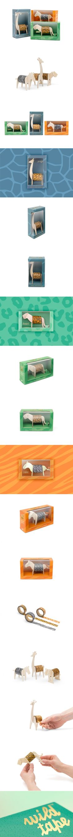 """Get """"Wild"""" In The Office With These Adorable Tape Rolls — The Dieline 