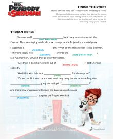 Mad Libs Finish the Story Mr. Peabody and Sherman Free Printables, Activities, Coloring Pages, Recipes and more | SKGaleana