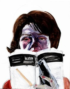 Self as Jackie Reading Foucault by Laura Elkins
