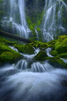 Proxy Falls - Oregon Romans For since the creation of the world God's invisible qualities--his eternal power and divine nature--have been clearly seen, being understood from what has been made, so that people are without excuse. Image Nature, All Nature, Amazing Nature, Nature Photos, Beautiful Waterfalls, Beautiful Landscapes, Beautiful World, Beautiful Places, The Great Outdoors