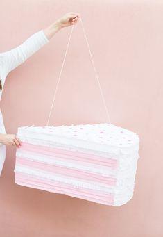 DIY giant sprinkled birthday cake slice piñata   Best Friends For Frosting