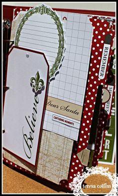 OMG ! I have got to have this Christmas Memory Binder by Teresa Collins.  It is just fantastic !!!