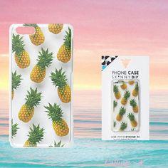 関税,送料込み!即納,手元にあり!River Island iPHONE 5c ケース パイナップル柄がぎっしりでキュート!  POPなフルーツ柄の小物は海外オシャレgirlのマストアイテム♪
