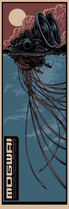 Mogwai concert poster by Ken Taylor