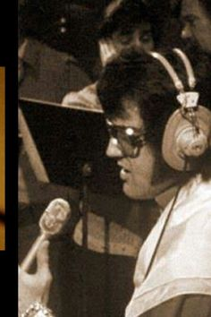 """Elvis at rehearsals (shown here signing """"Always On My Mind""""."""