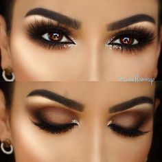 5 Ways To Make Brown Eyes Pop - Brown eyes are totally stunning. These 5 unique makeup tricks using purple and blue eyeliners will make your brown eyes stand out. makeup augen hochzeit ideas tips makeup Makeup Hacks, Eye Makeup Tips, Eyeshadow Makeup, Makeup Ideas, Brown Eyes Eyeshadow, Makeup Inspo, Makeup Looks For Brown Eyes, Eyeshadow Ideas, Eyeshadows