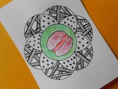 French macaron mandala art  Watercolor by CuteCreationsByLea, $10.00