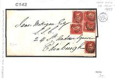 C142 1857 GB London Numeral Late Fee Scotland Edinburgh   eBay
