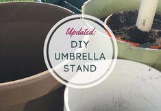How to create a unique DIY umbrella stand!