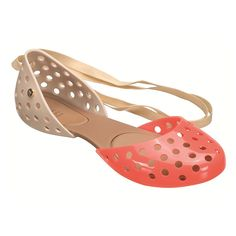 Perforated plastic shoes by Melissa