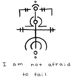 """""""I am not afraid to fail"""" sigil for Sigil requests are currently closed -Mod Pyre Witch Symbols, Cool Symbols, Alchemy Symbols, Magic Symbols, Symbols And Meanings, Viking Symbols, Ancient Symbols, Egyptian Symbols, Viking Runes"""