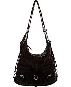 "Soft Vegan Leather Handbag""Convertible Backpack"" by Ampere Creations Big Handbags, Cross Body Handbags, Leather Crossbody, Crossbody Bag, Convertible Backpack, Tote Purse, Clutch Wallet, Shoulder Purse, Black Backpack"