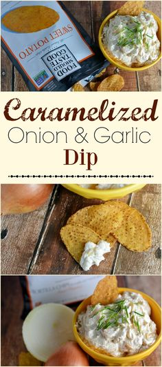 Caramelized Onion and Garlic Dip Recipe- Sweet and savory at the same time, Caramelized Onion and Garlic Dip is the perfect appetizer to bring to your holiday party! sp