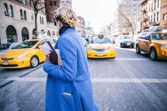 New York Fashion Week Street Style // Spring Summer 2015 // Tomboy KC // Long Blue Coat