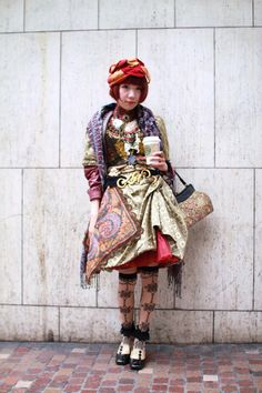 Dolly kei layers and fabrics and colours and patterns