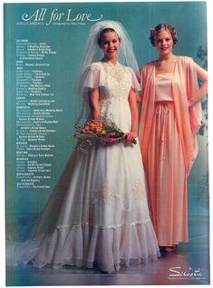 1980s Wedding Dress, Retro Wedding Dresses, 1970s Wedding, Vintage Style Dresses, Wedding Gowns, Chic Vintage Brides, Vintage Weddings, Vintage Bridal, Vintage Ads