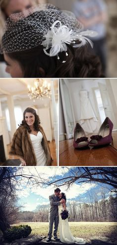 Shakespeare Inspired Wedding. (Love the feathery hairpiece!)
