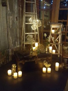 Solar lights and lanterns or Flamesless candless,
