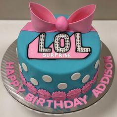 LOL Surprise Cake #birthdaycake #bakery #birthday #birthdaygirl #lol #lolsurprise #lolsurprisecake #lolsurprisedolls #buford #buford518 #flowerybranch Girls 9th Birthday, Doll Birthday Cake, Funny Birthday Cakes, Birthday Cupcakes, Lol Doll Cake, Surprise Cake, Girl Cakes, No Bake Cake, Cupcake Cakes