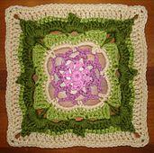 "Ravelry: Dream Window 9"" Afghan Block pattern by Emily H."