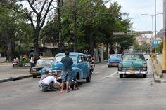 Havana Cuba  Vintage Cars  Individual Blank by BluebellandtheFox