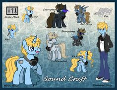 Sound Craft Reference Sheet by Kazziepones on DeviantArt