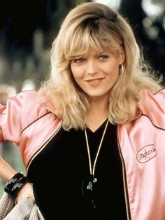 Michelle Pfeiffer as Stephanie in Grease 2. Faborite outfit ftom the movie.  From hair down to shoes.