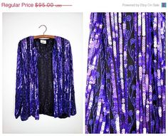 Purple Beaded Evening Jackets