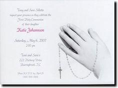 Girls Praying Hands Communion Invitations www.tcwdesigns.com First Communion Invitations, Praying Hands, Confirmation, Girls, Design, Little Girls, Daughters, Design Comics