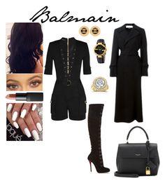 """Balmain"" by insafsat on Polyvore featuring mode, Balmain, Christian Louboutin, STELLA McCARTNEY, Chanel, Gucci, Annello, NARS Cosmetics, Yves Saint Laurent et women's clothing"