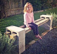 Repurpose Cinder Blocks...bench