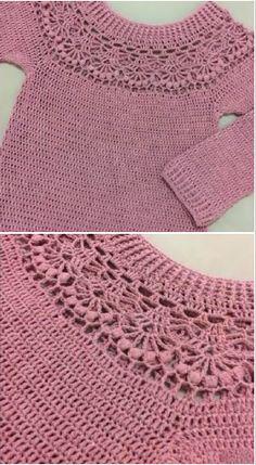 crochet long-sleeve blouse