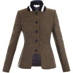 Stella McCartney Natalie tweed equestrian jacket ($1,544) ❤ liked on Polyvore