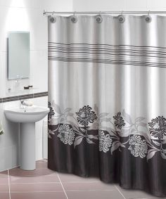 Take A Look At The Home Collections Black Gray Iris Shower Curtain Hook Set