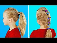 DIY Vintage Inspired earrings that you Can personalize Easy Toddler Hairstyles, Cute Little Girl Hairstyles, Easy Hairstyles For School, Flower Girl Hairstyles, Everyday Hairstyles, Trendy Hairstyles, Braided Hairstyles, Heatless Hairstyles, Dance Hairstyles