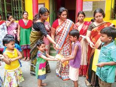 """Raiganj kindergarden school kids donate their new Durga Puja clothes to poor kids   Students of Dolna Kindergarten School all between six and 11 years distributed their Puja clothes among 200-odd children of the same age group belonging to poor families.  Katha Sen a Class III student said she and her friends came up with the idea after a school picnic.  """"In January we had gone for a picnic. We were all wearing sweaters and jackets to beat the cold. But we met few children who were wearing…"""