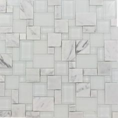 Shop For Breeze Carrera  Ice  Piazza Pattern Glass and Marble Mosaic Tile at TileBar.com
