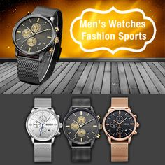 Men's Watches Fashion Sports Men's Watches, Watches For Men, Sports, Fashion, Hs Sports, Moda, Fashion Styles, Sport, Fashion Illustrations
