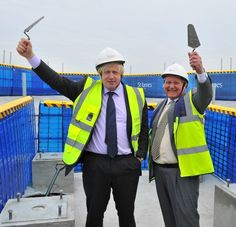 Boris Johnson and Tony Pidgley at the Riverlight Topping Out Ceremony (2nd July 2013): http://www.primeresi.com/riverlight-leads-the-dramatic-transformation-of-nine-elms/18065/