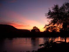 Dawn in Kenya. Tsavo National Park.