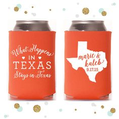 State or Province  Wedding Can Cooler 45  by SycamoreStudiosCo