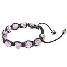 Blue Chip Unlimited - Trendy Lavender 10mm Pave Crystal Bead Shamballa Bracelet Fashion Jewelry Blue Chip Unlimited. $24.95. macrame toggle lock. unisex hip hop bracelet. heavy duty adjustable nylon cord. 10mm pave crystal disco ball beads. symbolizes peace, tranquility, happieness & oneness